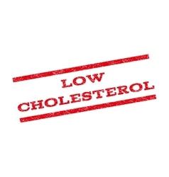 Low Cholesterol Watermark Stamp vector
