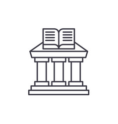 ministry of education line icon concept ministry vector image