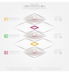 Modern infographic template with icons for vector image