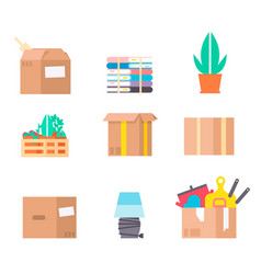 move service box full craft vector image