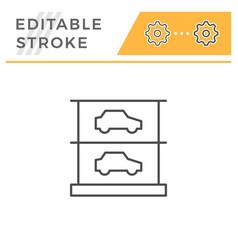 Multilevel parking editable stroke line icon vector
