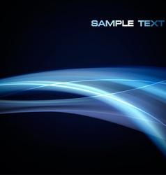 Neon blue abstract vector