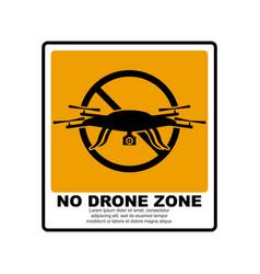 No drone zone sign vector