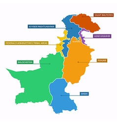 Pakistan map flat vector