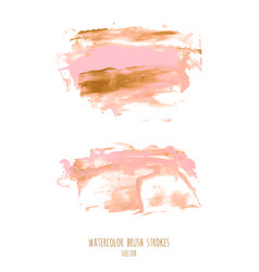 pink gold hand paint ink texture background vector image
