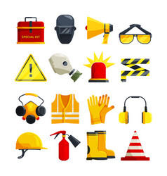 Protection clothing for work and safety equipment vector