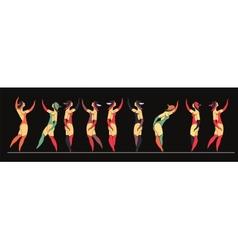 Set of circus dancer poster vector