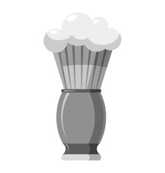 Shaving brush icon gray monochrome style vector