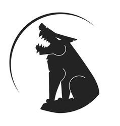 Silhouette wolf logo wild wolf vector