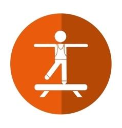 Sportman artistic gymnastics shadow vector
