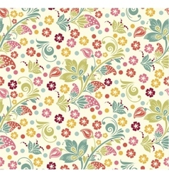 Spring Summer floral seamless pattern vector