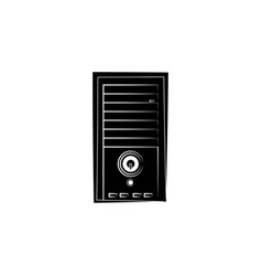 system unit icon black on white background vector image