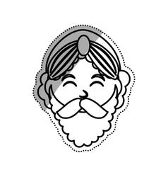 Three wise man cartoon vector
