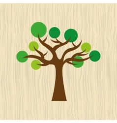 tree icon design vector image
