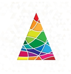 Tree in rainbow colors vector