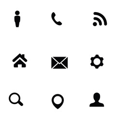 universal 9 icons set vector image