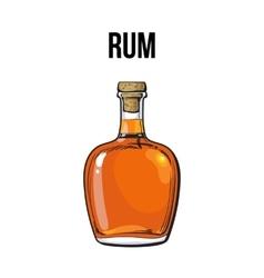 Unopened unlabeled full whiskey bottle vector