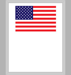 Us flag patriotic border vector
