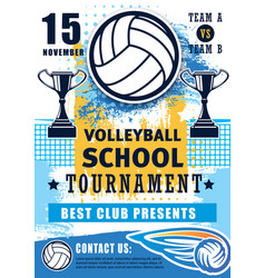 volleyball school sport team league tournament vector image