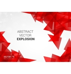 Abstract explosion of colorful particles vector image