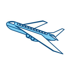 Isolated airplane taking off vector