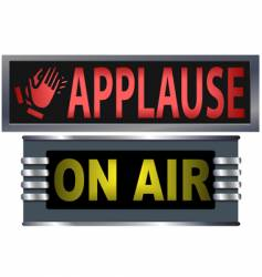 on air and applause sign vector image vector image