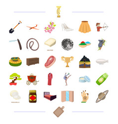 Sports tourism textiles and other web icon in vector