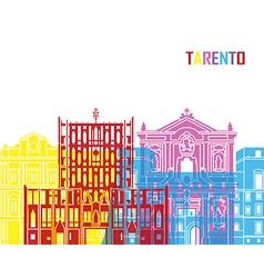 Tarento skyline pop vector image