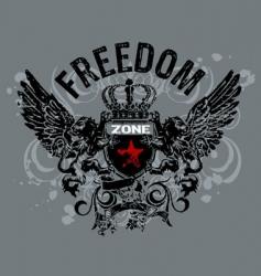 freedom heraldry vector image vector image
