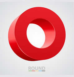 red glossy circle isolated on white vector image vector image