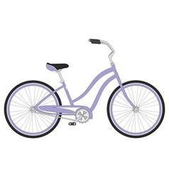 Retro woman sport bicycle on a white background vector image