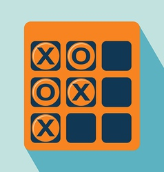 Tic Tac Toe Icon vector image vector image