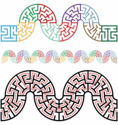 winding mazes in arc sections vector image vector image