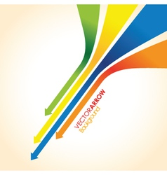 coloured arrow background vector image vector image