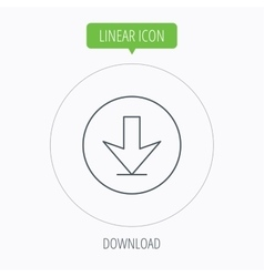 Download icon Down arrow sign vector image vector image