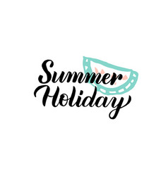 summer holiday calligraphy vector image vector image