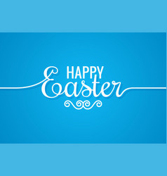 easter line vintage lettering design background vector image