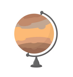 jupiter school globe planet geographical sphere vector image vector image