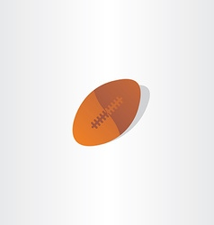 rugby ball american football icon design vector image