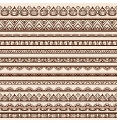 Set of Henna Borders vector image