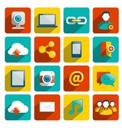 Social Media Icons Flat vector image