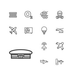 13 air icons vector