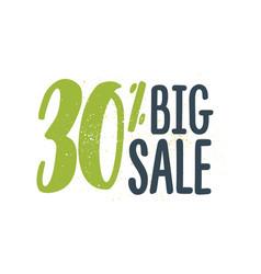 30 percent off sale big vector