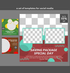 A set templates for food-for sales promotion vector