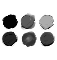 Abstract black and gray shape thick watercolor vector