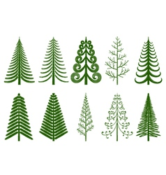 Abstract pine trees vector