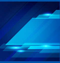 Abstract technology geometric blue color shiny vector
