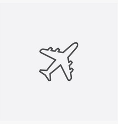 airplane outline icon vector image