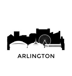 arlington texas city skyline negative space city vector image