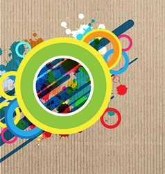 art banner layout design vector image